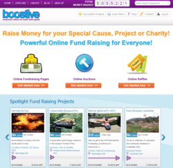 Boostive Online Fundraising Website