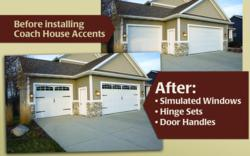 Decorative garage door accents