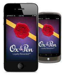 Use the Ox&Pen mobile app to earn and redeem loyalty points and use exclusive offers at local merchants.