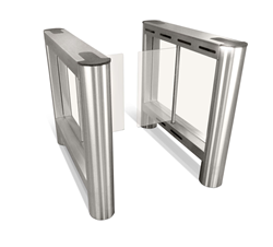 IP-enabled optical turnstiles for lobby security from Smarter Security