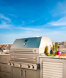 Hybrid Fire Grills by Kalamazoo Outdoor Gourmet are the only grills that can cook with gas, charcoal or wood, either separately or in combination, giving backyard barbecuers unlimited cooking options.