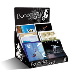Greeting cards for surfing, skating, snowboarding, and action sports industries.