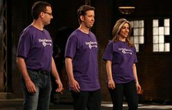 HomeSav co-founders Alex Norman, Allan Fisch and Aliza Pulver pitching their idea on the Dragons' Den