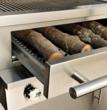Hybrid Fire Grilling Drawers can be filled with wood or charcoal or used empty for gas-only cooking. The drawers give outdoor cooks virtually unlimited cooking options.