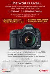 Canon EOS 5D Mark III Launch Invitation