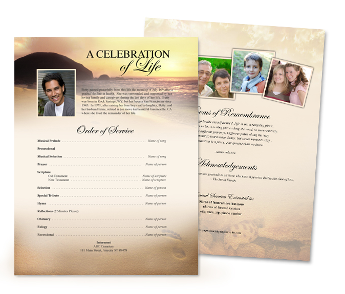 New showroom one stop funeral memorial superstore creates for Funeral leaflet template free