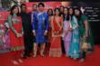 Deepa Bafna and Vishal Mehta with other winners from the U.K., South Africa, and Europe, posing with actors from Diya Aur Baati Hum – Ana Rashid (Suraj) and Deepika Singh (Sandhya).