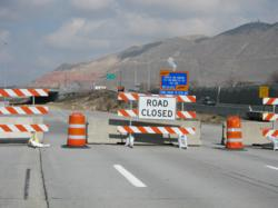Concrete barrier is extremely hazardous for motorists when deployed to delineate traffic patterns