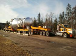 Nickel Bros transport by truck in North America for Weyerhaeuser HPD project