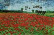 "Add small doses of spring cheer to your home décor by incorporating blooming accessories, like Vincent van Gogh's ""Field of Poppies,"" throughout your home."