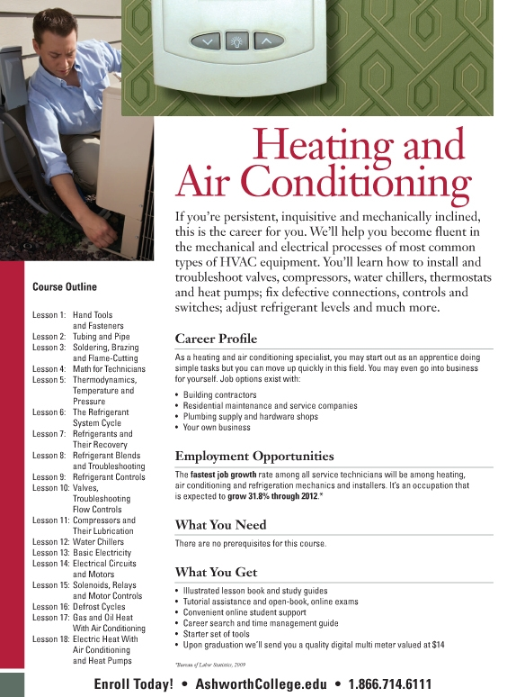 Heating and Air Conditioning (HVAC) yale college course catalog