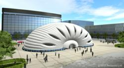 Tectoniks new temporary event structure - the Sensu Pavilion