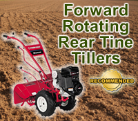 forward rotating rear tine tiller, forward rotating rear tine tillers