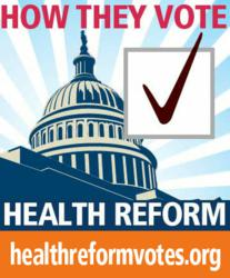 health reform votes of Congress