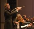 Music Director Paul Goodwin conducting the Carmel Bach Festival Orchestra