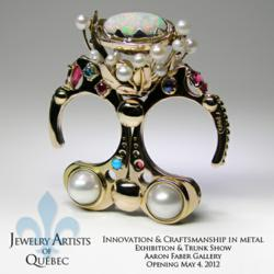 Mystical Flowering Kinetic Movement Ring in 14k gold, opal, diamonds, moonstone, ruby, pearls, sleeping beauty turquoise.
