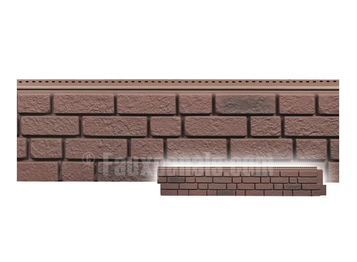 Vinyl faux brick siding amature housewives for Vinyl siding that looks like brick