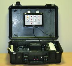 MPACaseMaker Benchmarking Kit with PlayBook, keyboard, license scanner and printer for in-vehicle assessment without needing an actual up-fit .