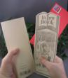 the greeting card and bookmark in one...it perforates