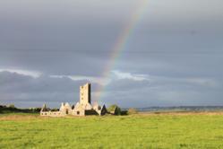Moyne Abbey in County Mayo, Ireland