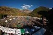 Aerial festival Shot