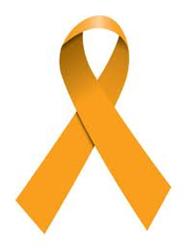Orange Kidney Cancer Ribbon