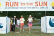 Runners completing the final leg of the beautiful, 95-mile course for the 2011 Run to the Sun relay.