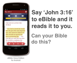 A Bible that you can talk to