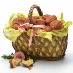 Easter Basket with Cinnamon-Sugar Donut Muffins