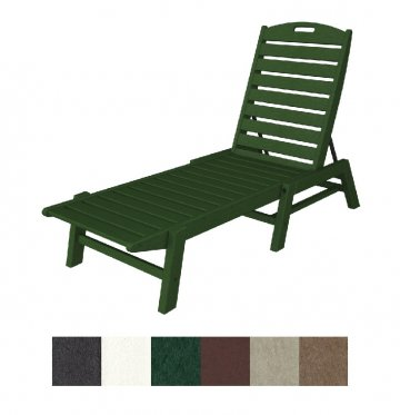 nautical stackable armless chaise