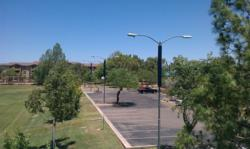 Sun Liberty Holdings, through Green Global LLC, has several pilots of its Energy Warrior system mounted in the western United States including this one at a community center in Gilbert, Arizona, USA.