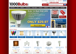 1000Bulbs.com Homepage