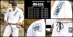MoyaBrand White Sands Kimono & Size Chart