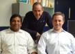 Jameel Farruk and David Friedman of Inhabi with Mike Krupit of Novotorium.