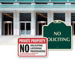 View Image of No Soliciting Sign