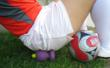 Soccer players relieve gluteal pain, as well as excruciating foot pain from wearing cleats.