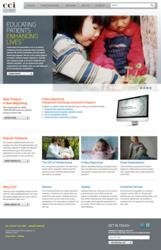 home page of CCi's new website developed by Insite