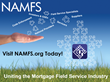 National Association of Mortgage Field Services (NAMFS) to host 2014...