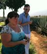 No Mas! Cantina Director of Operations, Melody Voirin, and General Manager, Douglas Baker, tasting the raw agave.  (photo courtesy No Mas!)