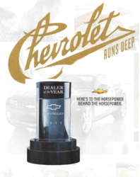 2011 Chevy Dealer Of The Year Award for Jim Ellis Chevy