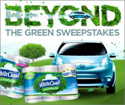 "White Cloud's ""Beyond the Green"" Sweepstakes allows users a chance to enter to win a Nissan LEAF."