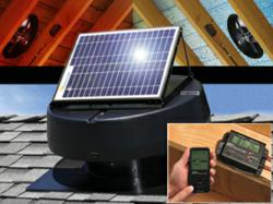 U.S. Sunlight Corp Solar Powered Attic Fan and Solar Controller