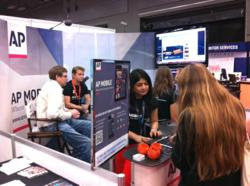 Abram Boise Interviews Hugh Forrest at the AP Mobile booth at SXSW
