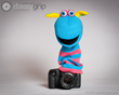 Scorch Hand Puppet by The Puppet Company® supported by the DaisyGrip™