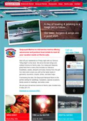 Desktop and iPhone screen shots of Sequoyah Marina's new website - image