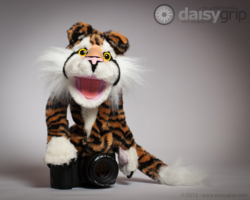 Rory Tiger by Melissa & Doug® supported by the DaisyGrip™