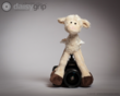 Lanky Legs Lamb stuffed animal by Melissa and Doug® supported by the DaisyGrip™