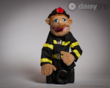 FireFighter Hand Puppet by Melissa and Doug® supported by the DaisyGrip™