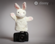 Bunny Hand Puppet by The Puppet Company® supported by the DaisyGrip™