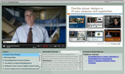 KnowledgeVision CEO Michael Kolowich demonstrates a Kaltura-enabled online video presentation
